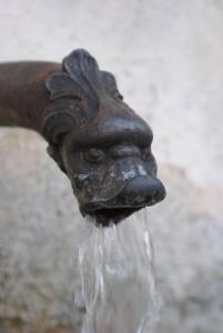 Fontaine en vieille ville