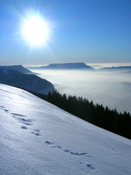 Soleil d'hiver au Semnoz