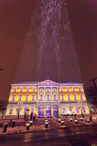 La mairie d'Annecy tout en lumière
