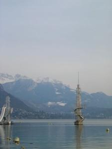 hiver sur le lac d'Annecy