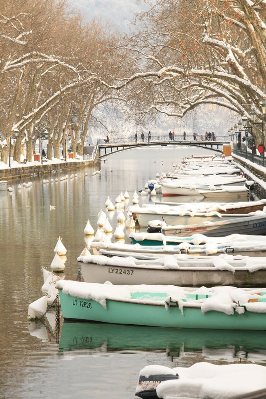 Pont des amours en hiver