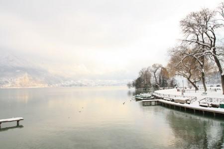 hiver sur le lac