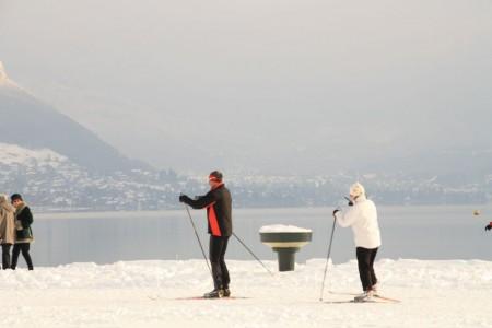 la neige favorise les déplacements doux : ski de fond