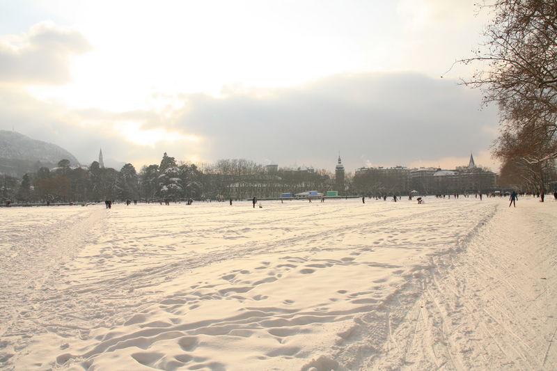 Champ de neige en ville