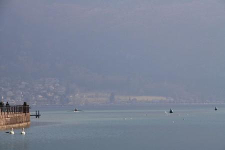Le lac depuis Annecy centre