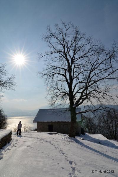 Neige et lac d'Annecy
