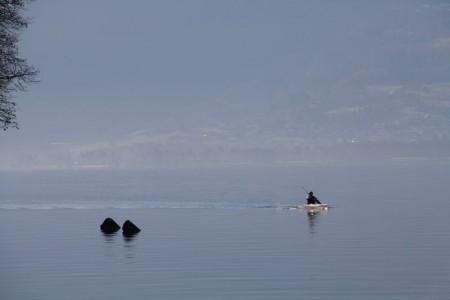 kayak sur le lac d'Annecy