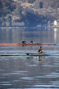 2 avirons sur le lac